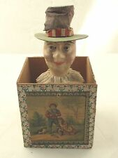 Antique 1890's Jack in the Box Victorian Toy Exceptional and Early