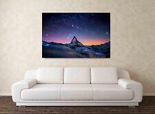 Matterhorn 30x20 pollici Tela Foto Incorniciata stampa Mountain Paradise Swiss Alps