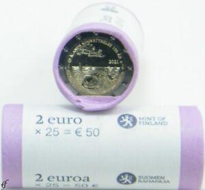 Rolle 2 Euro Gedenkmünzen Finnland 2021 Åland 100 Jahre Autonomie