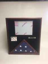 4' X 6' Oak Flag Display Case Flag Storage Shadow Box Made In Wisconsin #1040B