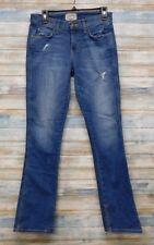 Current Elliot Jeans 28 x 31 Women's Mary Jane Destroy Slim Boot Stretch  (H-61)