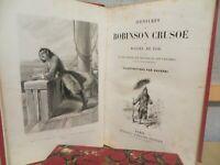 aventures de Robinson Crusoé Daniel de Foë gravures de Gavarni notice Caraïbes