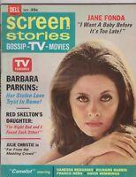 Screen Stories Magazine November 1967 Barbara Parkins, Jane Fonda, Red Skelton