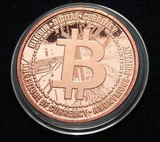 Bitcoin Copper Round 1 Oz Kupfer Medaille