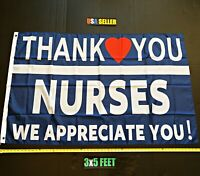 Thank you Nurses 2020 Flag FREE FIRST CLASS SHIP Healthcare Hero's New Sign USA