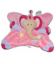 Doudou plat Elephant rose Nattou Jollymex