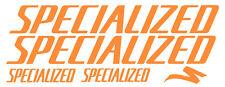 5 pegatinas de vinilo Naranja fluorescente SPECIALIZED  para bicicleta,  no 404