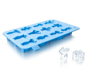 Vacu Vin Party People Silicone Ice Cube Tray Blue