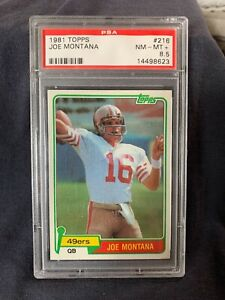 1981 Topps Football Joe Montana Rookie #216 PSA 8.5 NM-MT+  HOF BEAUTY !!!