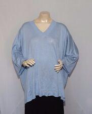 JOANN VASS Silk & Cashmere, Light Blue 3/4 Sleeve V-Neck Sweater SIZE 2X (NWT)