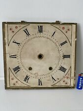 """Antique American Wooden Works Painted Shelf Clock Dial Roman 11.5"""" x 12.25"""""""