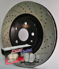 Fits RX8 Sport Susp 6spd trans Cross Drilled Slotted Brake Rotors Brake Pads F+R