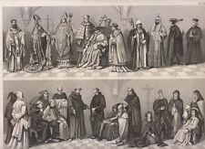 benedettini, gesuiti, eremiti, brigidine, protestanti, carmelitani 1850  bulino