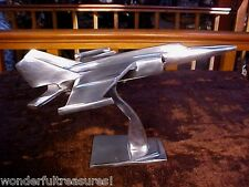 HM STAINLESS STEEL Airplane Air Plane Figurine PROPELLERS Double Wing INDIA!