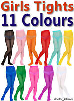 Girls Boys Childs Tights Pantyhose 11 Bright Colours 3 Sizes Age 4-14 40 Denier