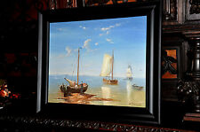 vintage Italian  Seascape  Painting  absolutely gorgeous