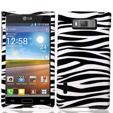 For LG Optimus Showtime L86c HARD Protector Case Snap On Phone Cover Zebra