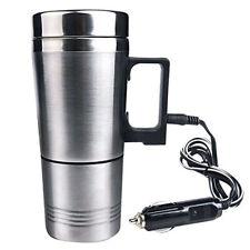 Car Cup Heating Coffee Stainless Steel Travel Heated Thermos Mug Steel Tea Auto