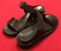 Cole Haan Bailee Sandals Black Leather Slip-On Strappy NEW Women's 9 AA Narrow
