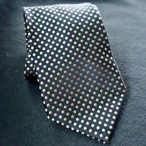 """Arrow USA Since 1851 Necktie Tie 100% Silk Black Polka Dots 3.5"""" x 59"""""""