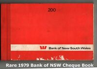 Bank Of New South Wales.💲 Rare 200 Leaf Cheque Book 💲1979 💲 166 Blanks✔️