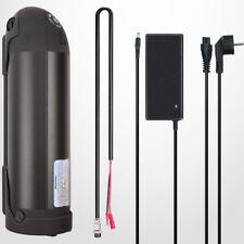 E-Bike Akku Kit Umbausatz 36V 10Ah 360Wh  inkl. Halterung und Ladegerät, schwarz