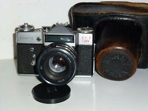 SELTEN  Zenit E SLR Kamera M42 Schraubgewinde.25 Parteitag HELIOS 44M Objektiv