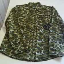 Royal Premium Forest camo long sleeve bottom down shirt, size from S,M,L,2XL