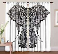 Front Elephant Wall Hanging Door Window Curtain Drape Valance Door Decor Indian