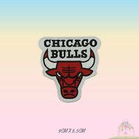 Base Ball Team Chicago Bull Logo Embroidered Iron On Patch Sew On Badge Applique