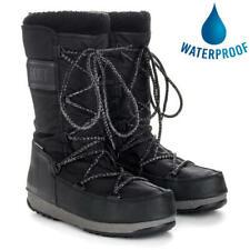 Moon Boots Monaco Wool WP Womens Ladies Black Waterproof Snow Ski Winter Boots
