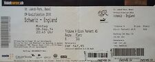TICKET 8.9.2014 Schweiz - England
