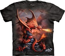 The Mountain Unisex Child Fire Dragon Anne Stokes T Shirt