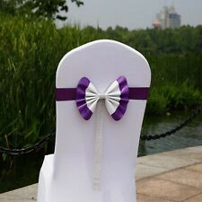 Spandex Organza Chair Sash Bows Cover for Wedding Anniversary Reception Sashes