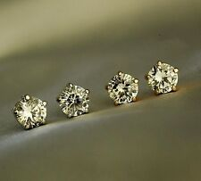 New 18K Rose GOLD Filled 8MM Classic SWAROVSKI Crystal Lab Diamond Stud Earrings