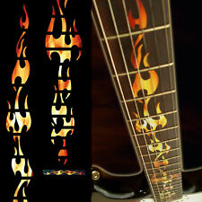 Fret Markers Inlay Sticker Vinyl Decal For Guitar - Fire Flames - RF /F057