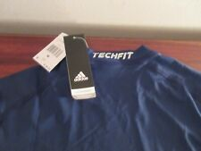 Adidas Men's Techfit Base Layer Short Sleeve Tee, Navy Medium W/Tags