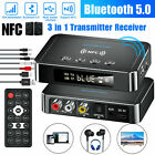 NFC Bluetooth 5.0 Transmitter Receiver 3.5mm AUX To 2 RCA Wireless Audio Adapter