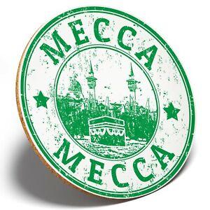 1 x Awesome Mecca Saudi Arabia - Round Coaster Kitchen Student Kids Gift #4723