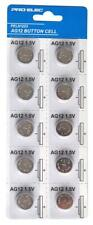 10 Pack Alkaline AG12/LR43 Button Cell Battery Toy Camera Keyfob Torch Watch Car