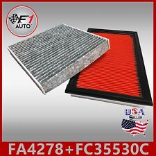 FA4278 FC35530C(CARBON) PREMIUM ENGINE & CABIN AIR FILTER for 03-07 MURANO & G35
