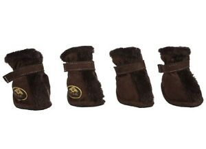 Pet Life Comfort Protective Faux Fur Boots (Set of 4) - Large (5)