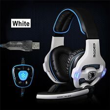 USB Wired Gaming Headset 7.1 Surround Stereo Headband Headphone MIC For PC Game