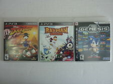 Lot of 3 PS3 - DuckTales: Remastered, Rayman, Genesis Collection (PlayStation 3)