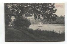 Twickenham - The Warren - river, sail boat - early postcard