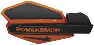 PowerMadd ATV/Motorcycle/Snowmobile Orange/Black Star Series Handguards 34205