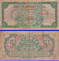 Great Britain, 5 Shillings 1946, British Armed Forces, fancy number 999980 FINE