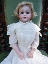 "22"" Simon & Halbig 1170 Bisque Shoulder  Head Doll Pink Kid Leather Composition"