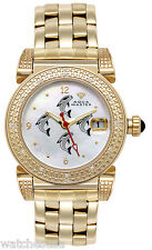 Aqua Master Women White Dial Gold-tone Stainless Steel .24ct. Diamonds Watch #88
