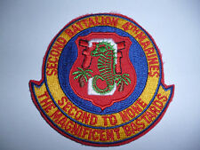US MARINE CORPS 2ND BATTALION 4TH MARINES PATCH.